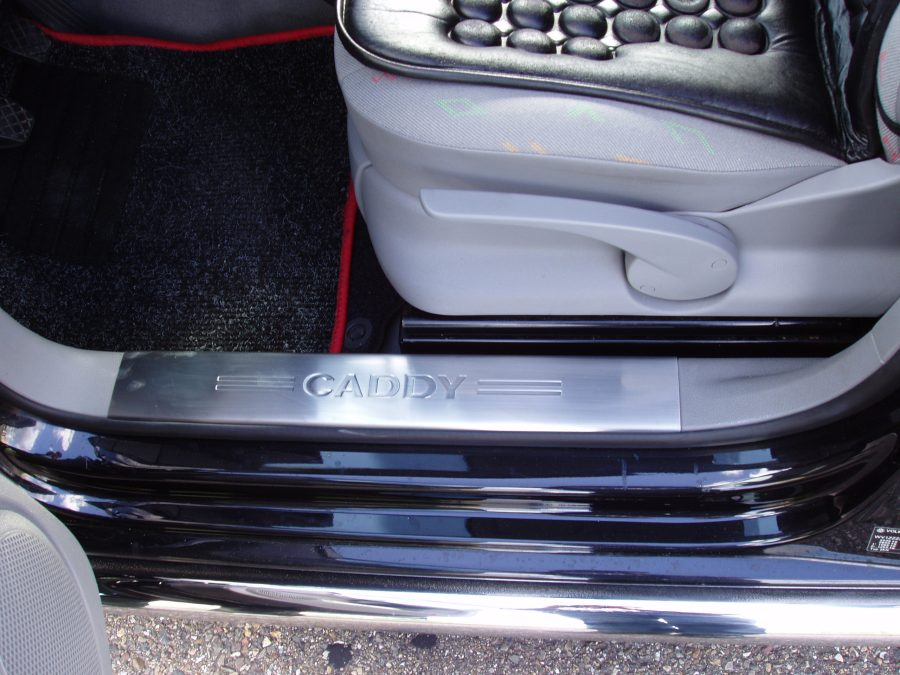 Vw caddy 01 04 gt 7520094 chrome interior door sill cover 4 pcs s steel