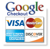 We accept all major Credit cards, Our Merchant are processing with Google checkout merchant system