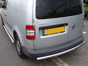 VOLKSWAGEN CADDY 2003+ REAR BUMPER GUARD SINGLE STRAIGHT